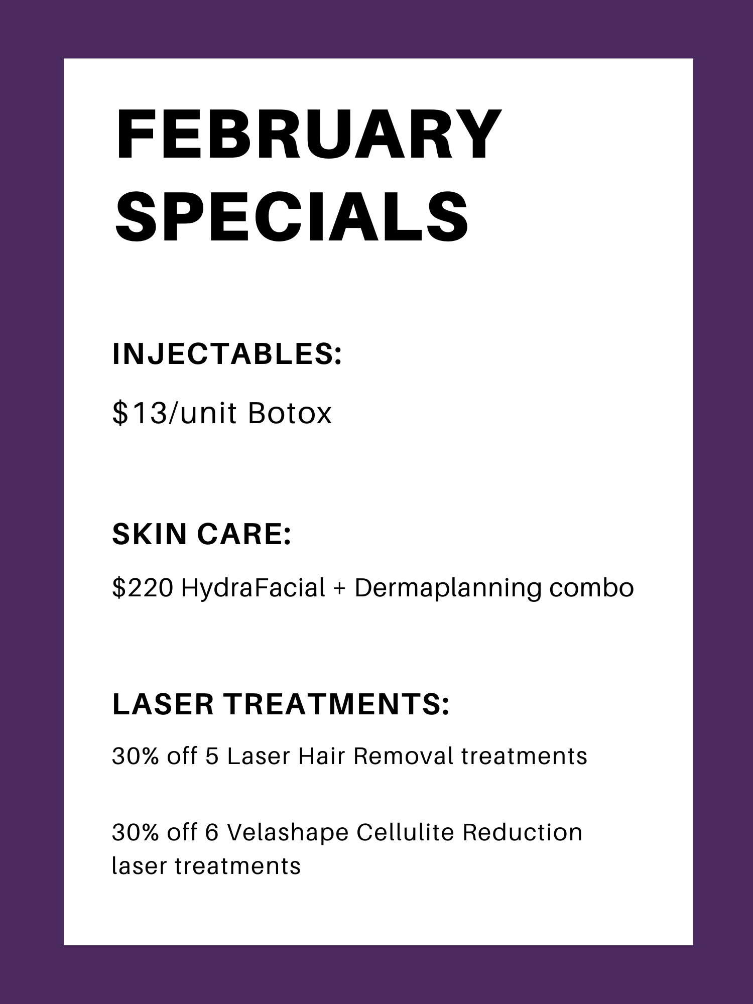 medical spa promotions